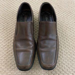 Brown Leather Rush Gordon Rush Slip-On Dress Shoes